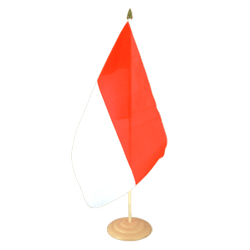 "Indonesia Large Table Flag 12x18"", wooden"
