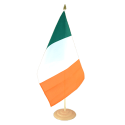 "Ireland Large Table Flag 12x18"", wooden"