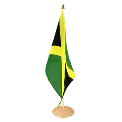 "Jamaica Large Table Flag 12x18"", wooden"