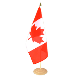 "Canada Large Table Flag 12x18"", wooden"