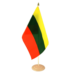 "Lithuania Large Table Flag 12x18"", wooden"