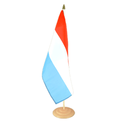 "Luxembourg Large Table Flag 12x18"", wooden"