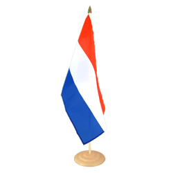 Grand drapeau de table Pays-Bas en bois 30 x 45 cm