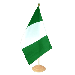 Grand drapeau de table Nigeria en bois 30 x 45 cm