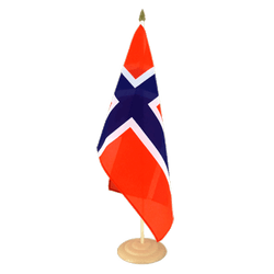 "Norway Large Table Flag 12x18"", wooden"