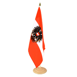 "Austria eagle  Large Table Flag 12x18"", wooden"