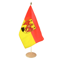 "Burgenland Large Table Flag 12x18"", wooden"