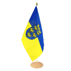 "Lower Austria Large Table Flag 12x18"", wooden"