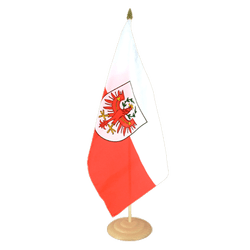 "Tyrol Large Table Flag 12x18"", wooden"