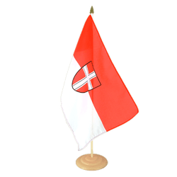 "Vienna Large Table Flag 12x18"", wooden"