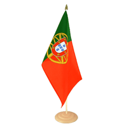 Grand drapeau de table Portugal en bois 30 x 45 cm