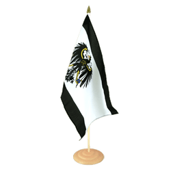 "Prussia Large Table Flag 12x18"", wooden"