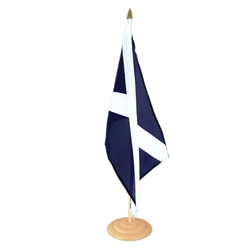 "Scotland navy Large Table Flag 12x18"", wooden"