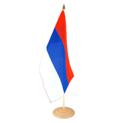 Serbie Grand drapeau de table 30 x 45 cm, bois