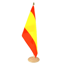 "Spain without crest Large Table Flag 12x18"", wooden"