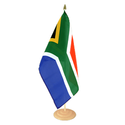 "South Africa Large Table Flag 12x18"", wooden"