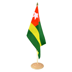 "Togo Large Table Flag 12x18"", wooden"