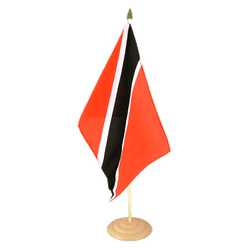 "Trinidad and Tobago  Large Table Flag 12x18"", wooden"