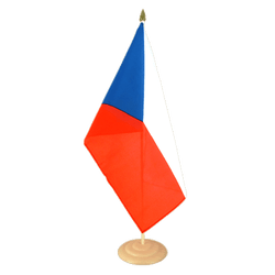 "Czech Republic - Large Table Flag 12x18"", wooden"