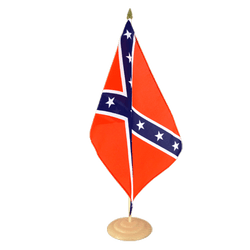 "USA Southern United States Large Table Flag 12x18"", wooden"