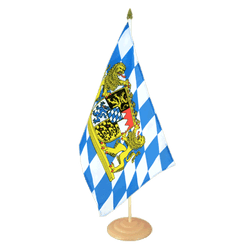 "Bavaria lion Large Table Flag 12x18"", wooden"