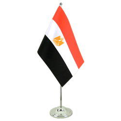 Drapeau de table prestige Egypte 15 x 22 cm