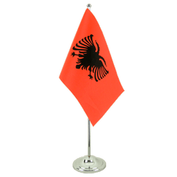 Albania Satin Table Flag 6x9""