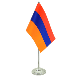 Armenia - Satin Table Flag 6x9""