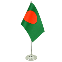 Bangladesh - Satin Table Flag 6x9""