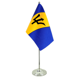 Barbados - Satin Table Flag 6x9""