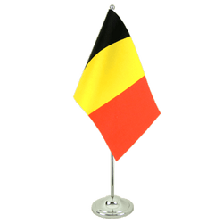 Belgium Satin Table Flag 6x9""