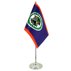 Drapeau de table prestige Belize 15 x 22 cm