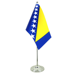 Bosnia-Herzegovina Satin Table Flag 6x9""