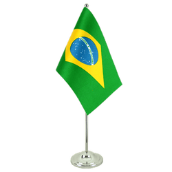 Brazil Satin Table Flag 6x9""
