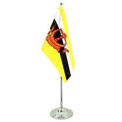 Brunei Drapeau de table 15 x 22 cm, prestige