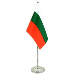 Bulgaria Satin Table Flag 6x9""