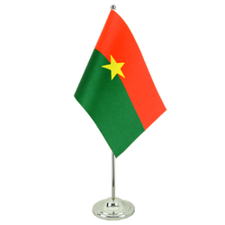 Drapeau de table prestige Burkina Faso 15 x 22 cm