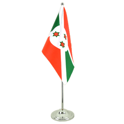 Burundi Satin Table Flag 6x9""