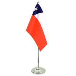 Drapeau de table prestige Chili 15 x 22 cm