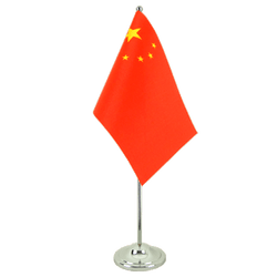 Drapeau de table prestige Chine - 15 x 22 cm