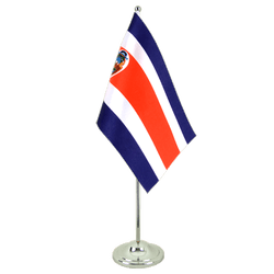 Costa Rica - Satin Table Flag 6x9""