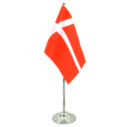 Denmark - Satin Table Flag 6x9""