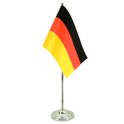 Germany Satin Table Flag 6x9""