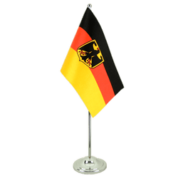 Germany Dienstflagge - Satin Table Flag 6x9""