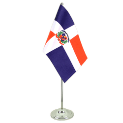 Dominican Republic Satin Table Flag 6x9""