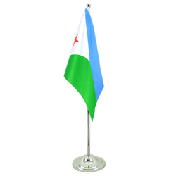 Djibouti - Satin Table Flag 6x9""