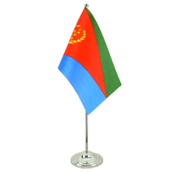 Eritrea Satin Table Flag 6x9""