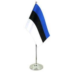 Estonia Satin Table Flag 6x9""