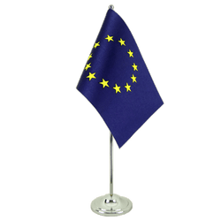European Union EU Satin Table Flag 6x9""