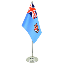 Fiji Satin Table Flag 6x9""